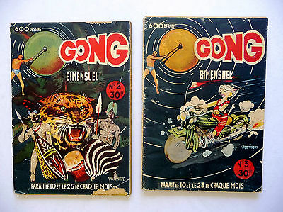 LOT 2  recit complet  GONG N° 2 .3 . CORRECT . 1950