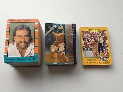 cricket cards 1986/87 (23 cards) and 1988/89 cards (127 cards) 1996 elite (60)