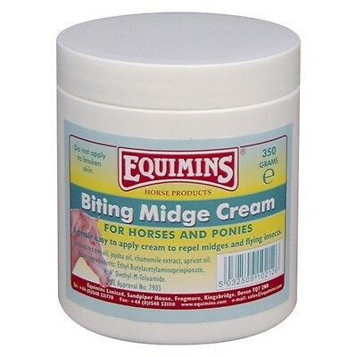 EQUIMINS BITING MIDGE CREAM Horse sweet itch insects flies repellent easy apply