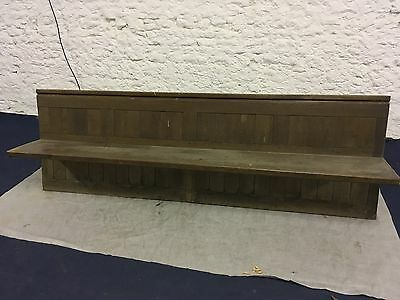 Victorian Church Pew - With No Ends