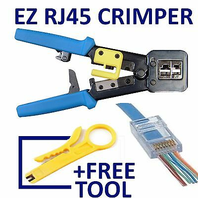 Ezrj45Pro Crimp Tool  +50 Cat 6 Connectors +Tool  ( Ez-Rj45 Ez Rj45)