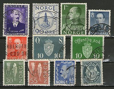 Norway: 11 Stamps - 1 MUH 10 Used