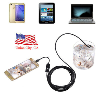 Waterproof Android Phone PC Endoscope Borescope Snake Inspection Camera Video
