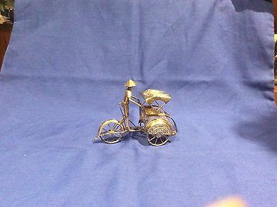Antique Chinese sterling silver Rickshaw