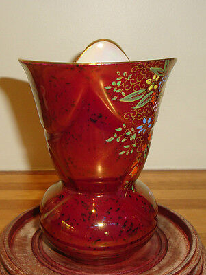 Crown Devon Rouge Royal Lustre Vase