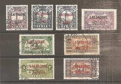 Lot Timbre Lattaquie Syrie Frankreich Kolonie Oblitere Used