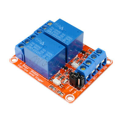 5V 2 Channel Relay Module With OPTO Isolation Support High and Low Level Trigger