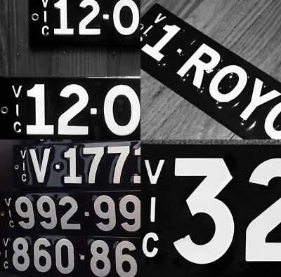 Heritage Style Number Plates-Vitreous Enamel Information Guide Read Description