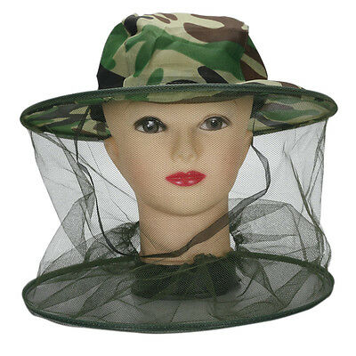 Midge Mosquito Insect Hat Bug Mesh Head Net Face Protector Traveling Camping Ca