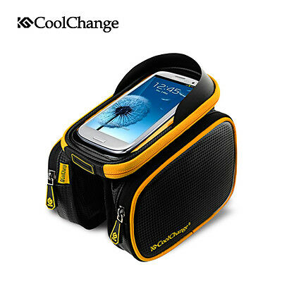 Outdoor MTB Bike Cycling Frame Pannier Front Tube Phone Bag Case Pouch Holder