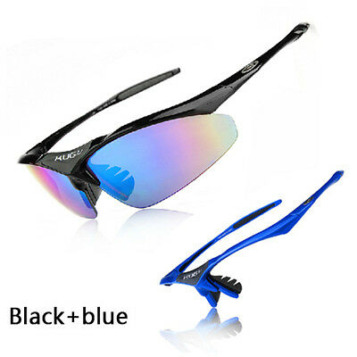 Outdoor Polarized Cycling Glasses Bike MTB Sport Sunglasses 5Lens Goggle Fishing
