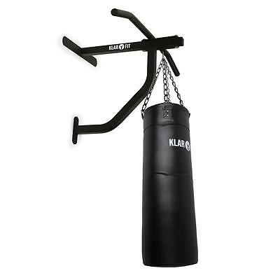 Klarfit Punch Bag With Wall Bracket Pull-Up Bar 350Kg Punching Chin-Up Boxing