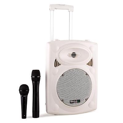 """Ibiza Port8Vhf-Bt 400W Bluetooth 8"""" Active Portable Pa System Dance Instructor"""