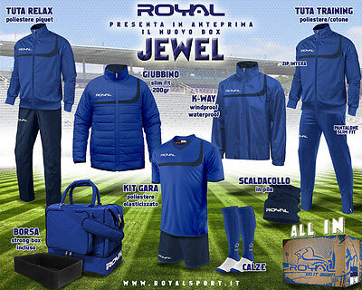 kit box calcio ROYAL SPORT colore blu royal blu navy modello JEWEL