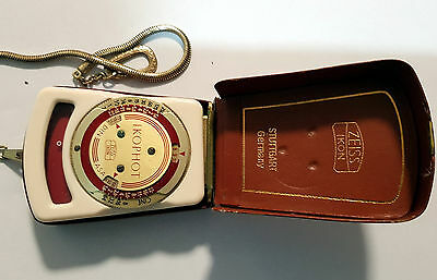 Zeiss Ikon IKOPHOT Selenium Exposure Light Meter w/case