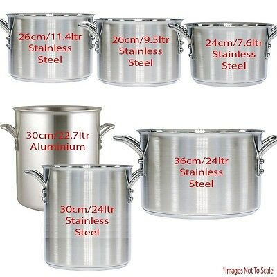 Commercial StockPots ~ Restaurant Cafe Bistro Hotels Catering |Different Sizes
