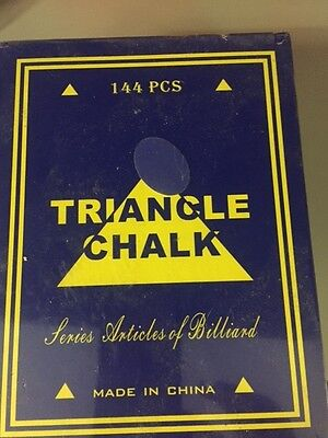 144 Cubes of Green Triangle Chalk Pool Snooker Cues NEW