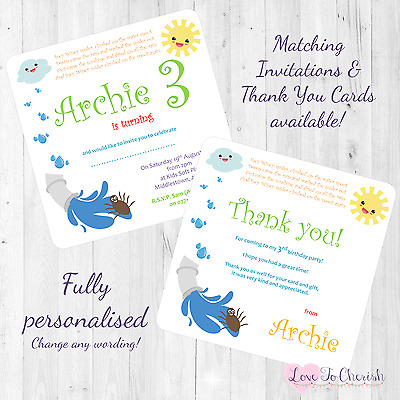 NR2 Personalised Birthday Nursery Rhyme Themed Party Invitations inc envelopes