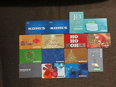 Kohl's Lot of 15 Assorted Gift Cards NO $ Value Collectible/Souvenir Only