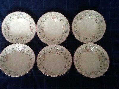 """6 Johnson Brothers Summer Chintz  6"""" Cereal Bowls"""