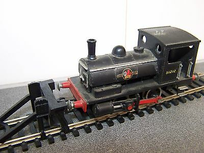Kitmaster ~ 51212 BR Black Loco & Hornby R600 track with buffer stop ~ OO Gauge