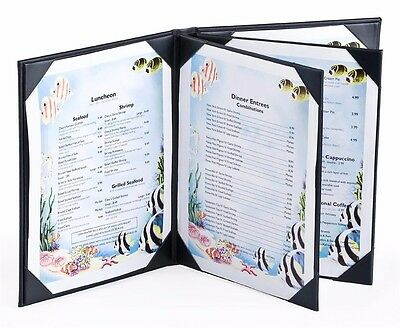 Set of 25, 4-page Menu Covers with Hardcover Design Hold (6) Hold A4