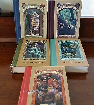 5 X A Series Of Unfortunate Events. By Lemony Snicket.  Hardcover 1,2,10,11,12