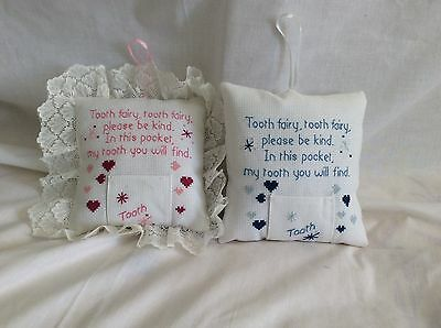 Tooth fairy pillow (christening/baby gift)