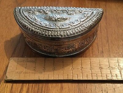 White Metal Continental Asian Style Box