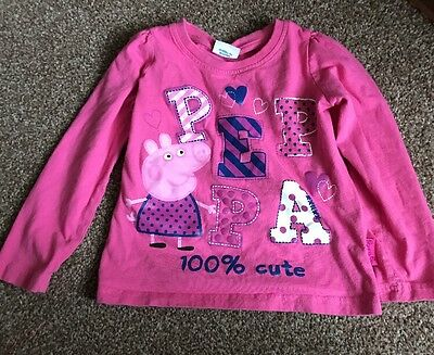 Peppa Pig Top 3-4 Years Good Condition