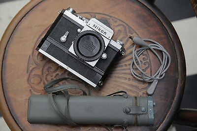 Very early and exceptional Nikon F camera, F36 drive and battery pack