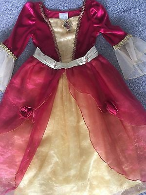 Girls Beauty And The Beast Princess Belle Fancy Dress Disney Store 4 years