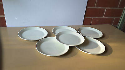 six Johnson of Australia Vintage Retro Pastel green  side plates