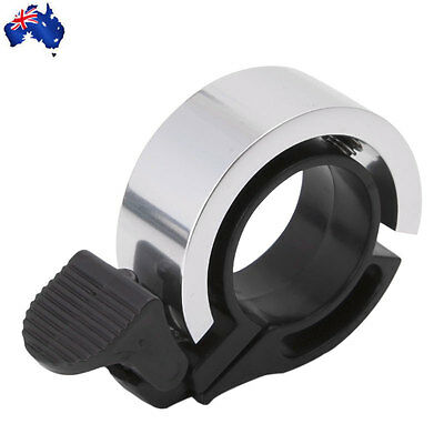 Bike Bicycle Bell Alloy Loud Sound Handlebar Safety Horn Silver