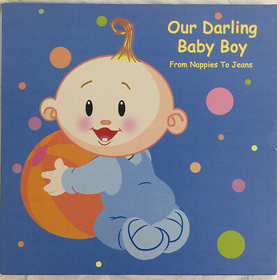 Our darling Baby Boy Memory Keepsake Book From Nappies to Jeans