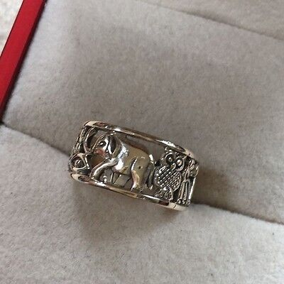 Sterling Silver Elephant 925  Ring, Size K1/2 Weight 3.2g,