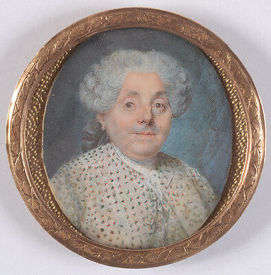 "Louis-Marie Sicardi (1743-1825)-Attrib. ""Portrait of a gentleman"",fine miniature"