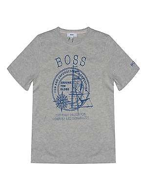 Hugo Boss Boys Grey Around The Globe T-shirt