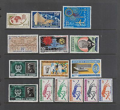 DAHOMEY Early Airmails, Postage Dues, Semi Postals 15 Diff ALL MNH SCV $24.45