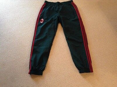 Brand New AC Milan FC 2016/17 Adidas Tracksuit Trousers Green Large