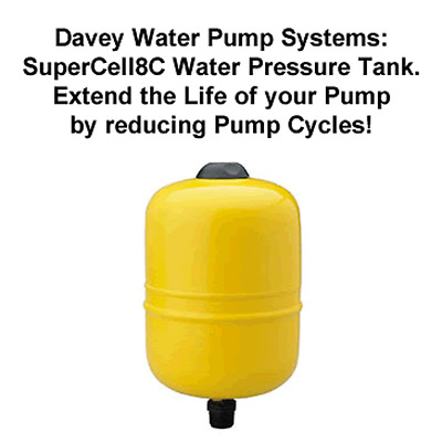 "New Davey Supercell 8C Water Pressure Tank 3/4"" Outlet  24008 24008-0"