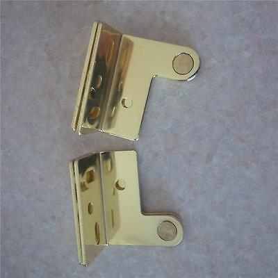 Hinge Pivot Face Fit Brass /Satin Chrome / Stainless Steel / White New 1 pair