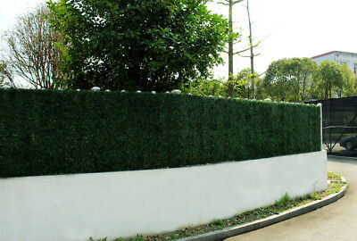 Outdoor Screen Decorative Fence Wall Vertical Artificial Hedge Tiles 50x50cms