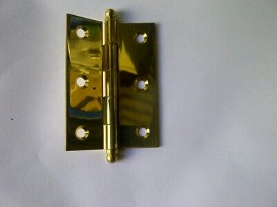 Butt Hinge Solid Brass Brand New 85mm l x 60mm w x 2mm d in prs or boxes of 5pr