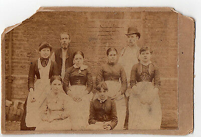 Cabinet Card Family With Hat Photograph Original Antique