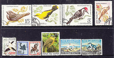 Worldwide Birds On Stamps Lot 1M