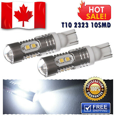 2x Super White T10 /192 /921 Wedge High Power LED Car SUV Reverse Back up Light