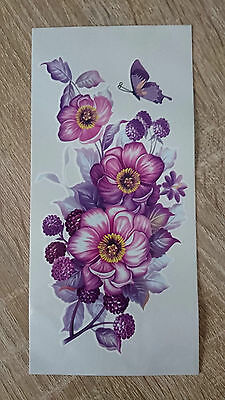 18x8.5cm-Sheet-High-Quality-Fake-Tattoo-Orchid-Flower-Waterproof-Party-Temporary