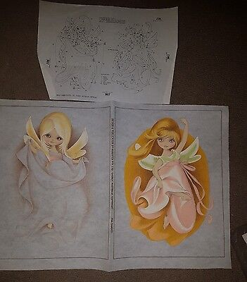 Partially -worked vintage Hobbytex  7417 DANCING FAIRIES  with instructions
