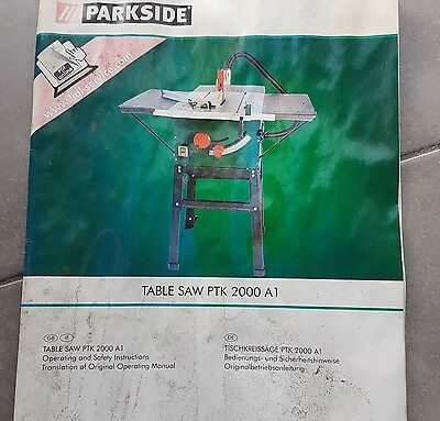 Parkside Table Saw PTK 2000 A1